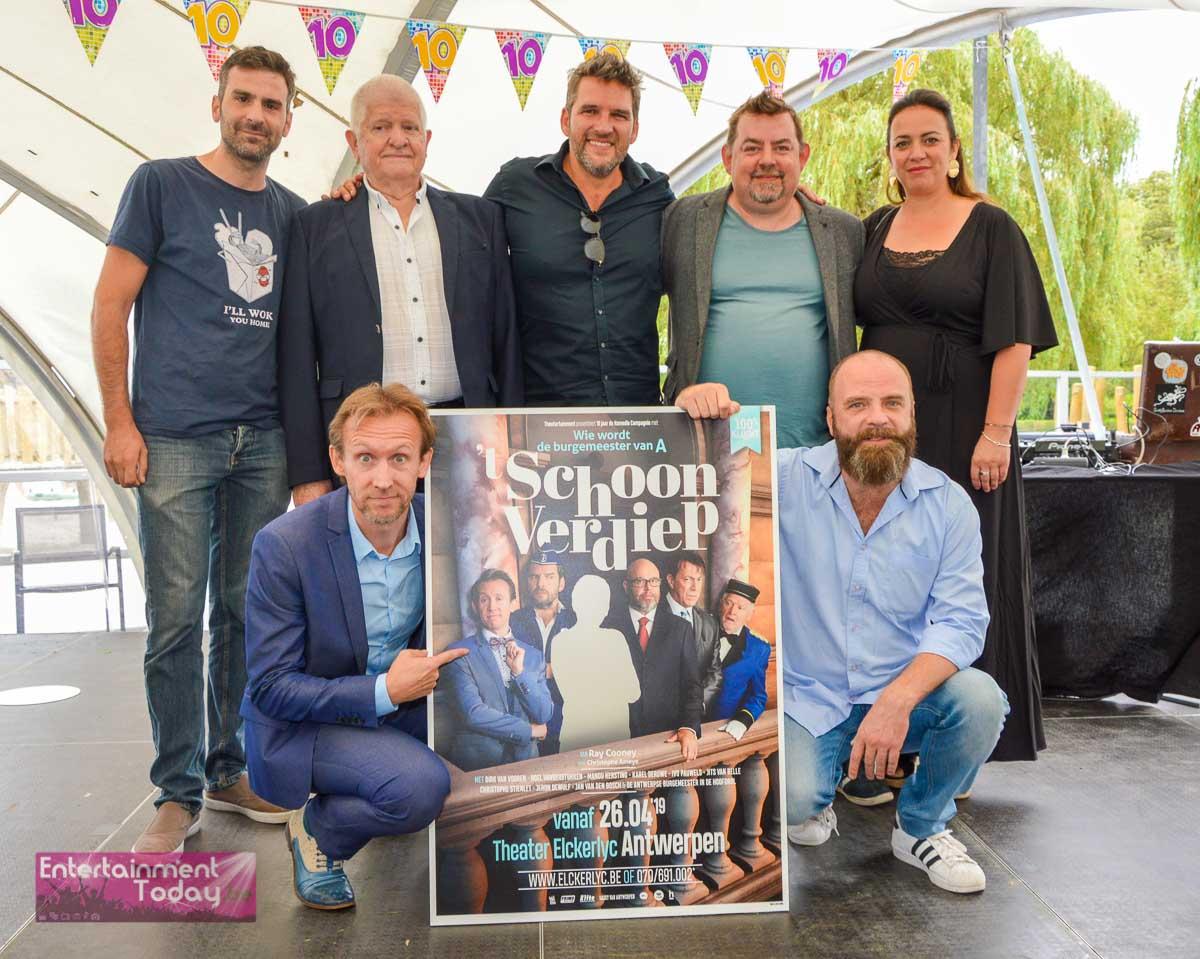 De cast van 't Schoon Verdiep - © Christof Desmedt